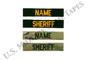 Law Enforcement Name and Service Tapes w/Hook Fastener