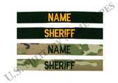 Law Enforcement Name and Service Tapes for Sew On