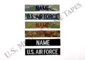 U.S. Air Force Name and Service Tapes w/Hook Fastener