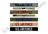 U.S. Air Force Name and Service Tapes for Sew On