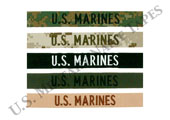 U.S. Marines Name and Service Tapes for Sew On